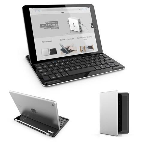 Anker Ultra-Thin Bluetooth Wireless Keyboard Case Cover with Stand for iPad Air