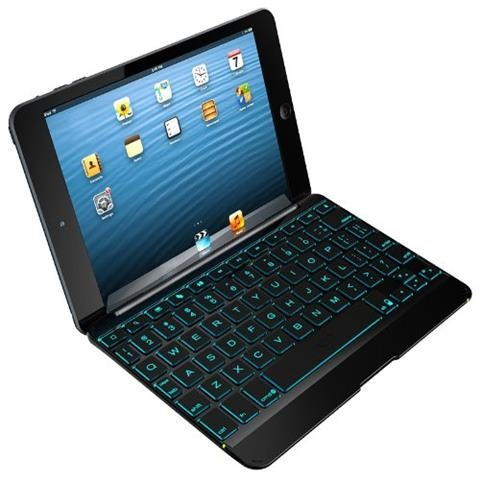 ZAGG ZAGGkeys Cover with Backlit Keyboard for Apple iPad mini