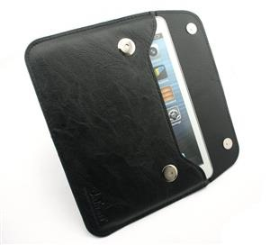 black ipad mini leather sleeve